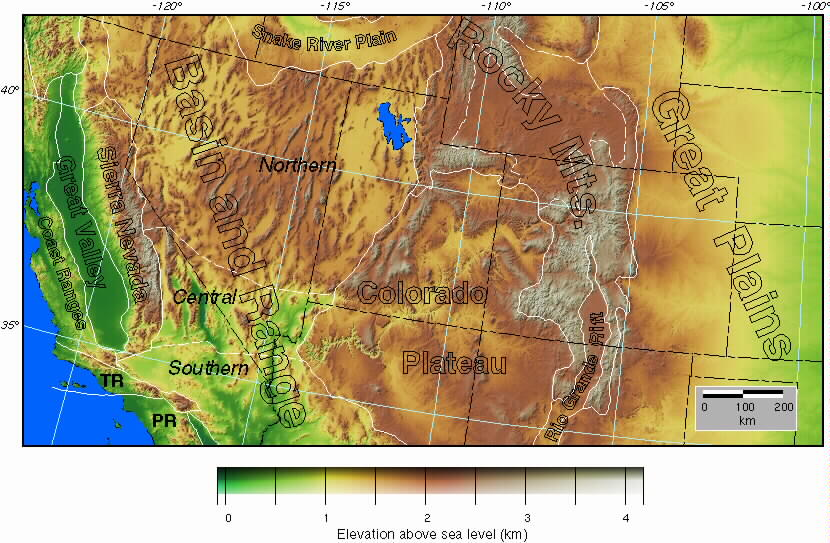 Topographic Map Of Usa World Map - Topagraphical map of us