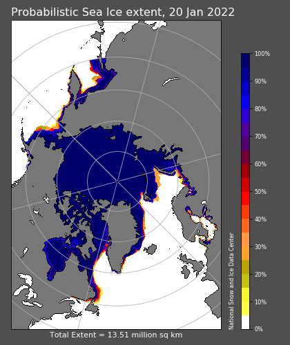 SPIE estimated probability of sea ice